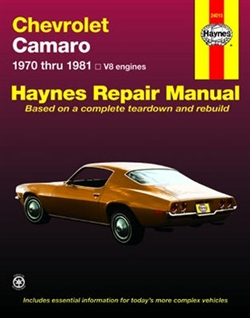 Haynes 24015 Chevy Camaro Repair Manual for 1970 thru 1981