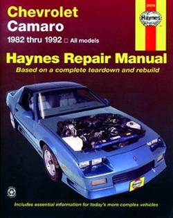 Haynes 24016 Chevy Camaro Repair Manual for 1982 thru 1992
