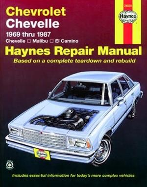 haynes repair manual for chevy chevelle malibu and el camino 1969 rh themanualstore com 1969 Chevy El Camino 1986 chevy el camino owners manual
