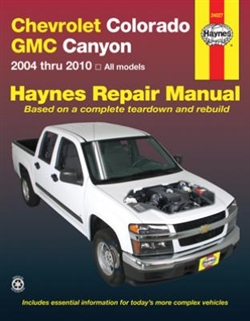 Haynes 24027 Chevy Colorado and GMC Canyon Repair Manual for 2004 thru 2010