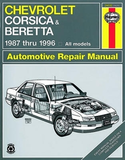Haynes 24032 Chevy Corsica and Beretta Repair Manual for 1987 thru 1996