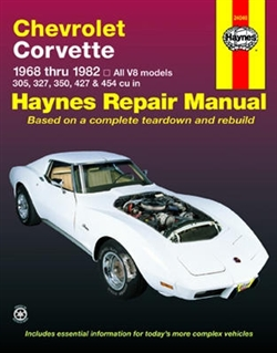 Haynes 24040 Chevy Corvette Repair Manual for 1968 thru 1982