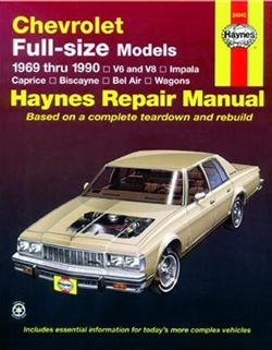 Haynes 24045 Chevy Full-Size Models Repair Manual for 1969 thru 1990