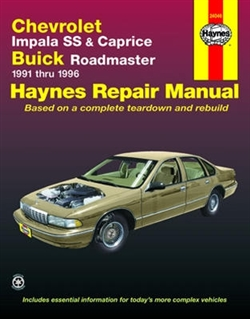 Haynes 24046 Chevy Repair Manual for 1991 thru 1996 Models with V8 Engines