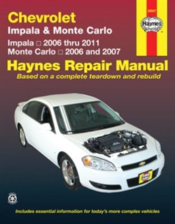 Haynes 24047 Chevy Impala (2006 thru 2011) and Monte Carlo (2006 and 2007) Repair Manual