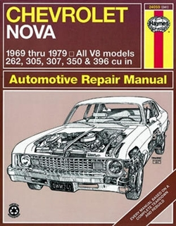 Haynes 24059 Chevy Nova Repair Manual for 1969 thru 1979 V8 Engine Models