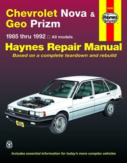 Haynes 24060 Chevy Nova and Geo Prizm Repair Manual for 1985 thru 1992