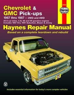 Haynes 24064 Chevy and GMC Pick-Ups Repair Manual for 1967 thru 1987