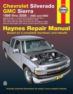 Haynes 24066 Chevy Silverado and GMC Sierra Repair Manual for 1999 thru 2006 Gasoline Engine Models