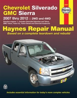 Haynes 24067 Chevy and GMC Pick-Ups Repair Manual for 2007 thru 2012