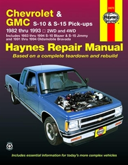 Haynes 24070 Chevy S-10 and GMC S-15 Pick-Ups Repair Manual for 1982 thru 1993 Gasoline Engine Models