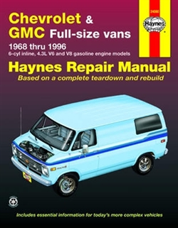 Haynes 24080 Chevy and GMC Full-Size Vans Repair Manual for 1968 thru 1996