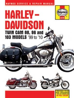 Haynes 2478 Harley-Davidson Twin Cam 88 Repair Manual for 1999 thru 2010