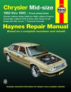 Haynes 25030 Chrysler Mid-Size Front-Wheel Drive Repair Manual for 1982 thru 1995