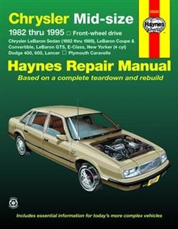 Haynes 25030 Chrysler Mid-Size Front-Wheel Drive Repair Manual for 1982 thru 1995