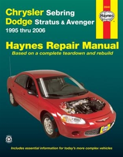 Haynes 25040 Chrysler Sebring and Dodge Stratus/Avenger Repair Manual for 1995 thru 2006