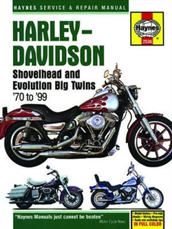 Haynes 2536 Harley-Davidson Shovelhead and Evolution Big Twins Repair Manual for 1970 thru 1999