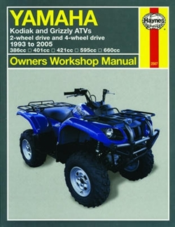 Haynes 2567 Yamaha Kodiak and Grizzly ATVs Repair Manual for 1993 to 2005