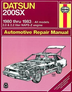 Haynes 28005 Datsun 200SX Repair Manual for 1980 thru 1983 All Models