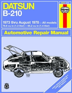 Haynes 28007 Datsun B-210 Repair Manual for 1973 thru August 1978 All Models