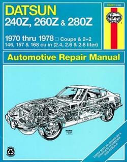 Haynes 28012 Datsun Repair Manual for 1970 thru 1978