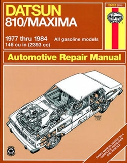 Haynes 28025 Datsun Repair Manual for 1977 thru 1984