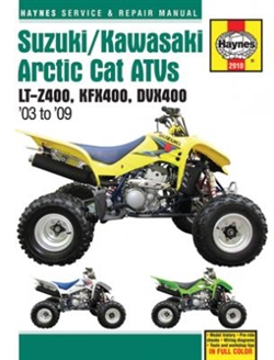 Haynes 2910 Suzuki, Kawasaki and Artic Cat ATVs Repair Manual for 2003 thru 2009