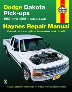 Haynes 30020 Dodge Dakota Pick-Up Repair Manual for 1987 thru 1996