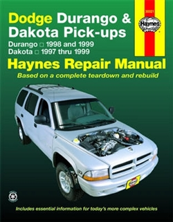 Haynes 30021 Dodge Durango (1998 and 1999) & Dodge Dakota (1997 thru 1999) Repair Manual