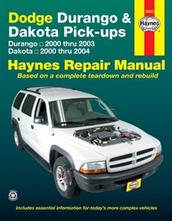 Haynes 30022 Dodge Durango (2000 thru 2003) and Dodge Dakota (2000 thru 2004) Pick-Ups Repair Manual