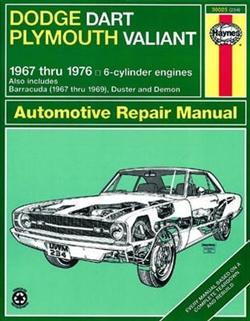 Haynes 30025 Dodge Dart and Plymouth Valiant Repair Manual