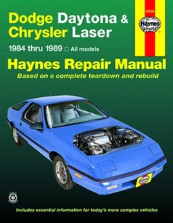 Haynes 30030 Dodge Daytona and Chrysler Laser Repair Manual for 1984 thru 1989