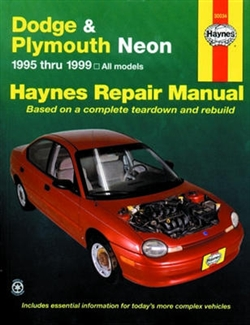Haynes 30034 Dodge and Plymouth Neon Repair Manual for 1995 thru 1999