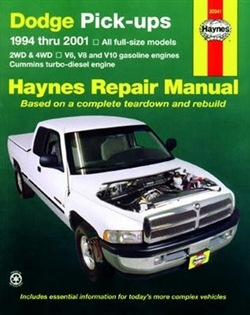 Haynes 30041 Dodge Full-Size Pick-Ups Repair Manual for 1994 thru 2002