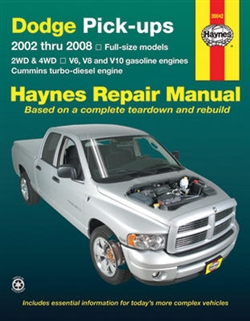 Haynes 30042 Dodge Full-Size Pick-Ups Repair Manual for 2002 thru 2008