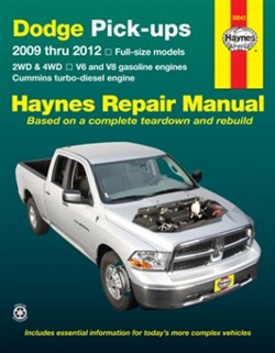Haynes 30043 Dodge Full-Size Pick-Ups for 2009 thru 2012 Repair Manual