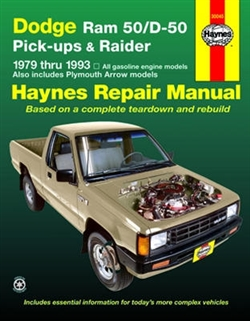 Haynes 30045 Dodge Repair Manual for 1979 thru 1993