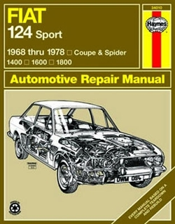 Haynes 34010 Fiat 124 Sport Coupe and Spider Repair Manual for 1968 thru 1978