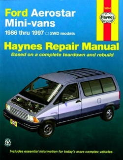 Haynes 36004 Ford Aerostar Mini-Vans Repair Manual for 1986 thru 1997