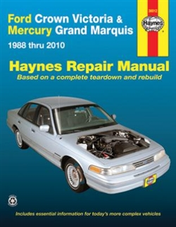 Haynes 36012 Ford Crown Victoria and Mercury Grand Marquis Repair Manual for 1988 thru 2010