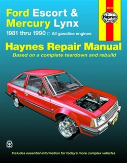 Haynes 36016 Ford Escort and Mercury Lynx Repair Manual for 1981 thru 1990