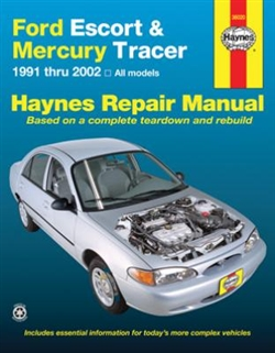 Haynes 36020 Ford Escort and Mercury Tracer Repair Manual for 1991 thru 2002