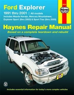 Haynes 36024 Ford Explorer and Mazda Navajo Repair Manual