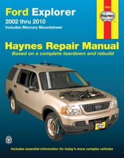 Haynes 36025 Ford Explorer and Mercury Mountaineer Repair Manual for 2002 and 2010