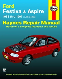 Haynes 36030 Ford Festiva (1988 thru 1993) and Ford Aspire (1994 thru 1997) Repair Manual