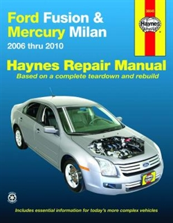 Haynes 36045 Ford Fusion and Mercury Milan Repair Manual for 2006 thru 2010