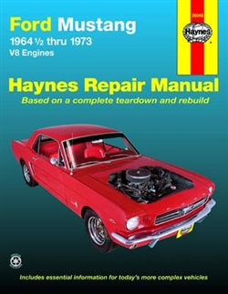 Haynes 36048 Ford Mustang Repair Manual Covering V-8 Engines for 1964 ½ thru 1973