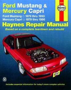 Haynes 36050 Ford Mustang and Mercury Capri Repair Manual for 1979 thru 1993