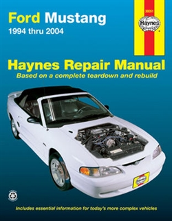 Haynes 36051 Ford Mustang Repair Manual for 1994 thru 2004 Covering All Models