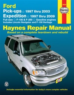 Haynes 36059 Ford Pick-Ups, Expedition and Lincoln Navigator Repair Manual for 1997 thru 2009